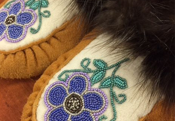 Beautiful handmade moccasins from one of our workshops