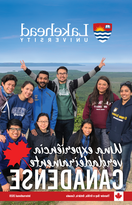 The cover of the 2019 Lakehead 国际 Brochure in Portuguese.